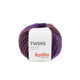Katia Twins 154 - Rosé-Perlbrombeer-Khaki-Weinrot