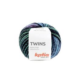 Katia Twins 158 - Gelb-Grün-Blau-Fuchsia