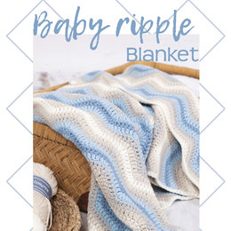 Durable Baby Ripple Deken Blue