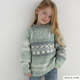 Katia Strickanleitung Pullover Kinder Easy Jacquard