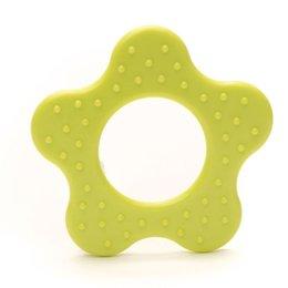 Durable Beißringe Blume mit noppen Lime (547)