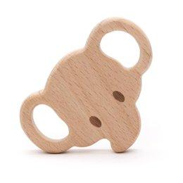 Durable Beißringe Holz Elefanten