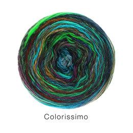 Lana Grossa Colorissimo 4 - Beige/Türkis/Hellgrün/Petrol/Camel/Rotbraun