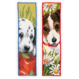 Vervaco Kreuzstichpackung Lesezeichen -  Hunde - 2er Set