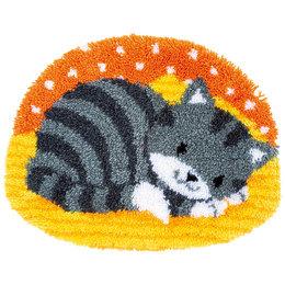 Vervaco Knüpfteppich Katze