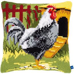 Vervaco Kreuzstichkissen Schwarze Huhn