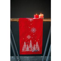 Vervaco Kreuzstichpackung Tischläufer Weihnachtsbäume & Waldtiere