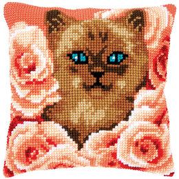 Vervaco Kreuzstichkissen Katze