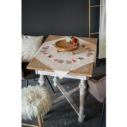 Vervaco Kreuzstichpackung Tischdecke Modernes Weihnachtsmotiv