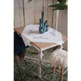 Vervaco Stickpackung Tischdecke Zimmerpflanzen
