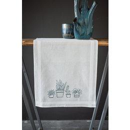 Vervaco Kreuzstichpackung Tischläufer Zimmerpflanzen