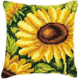 Vervaco Kreuzstichkissen Sonnenblume