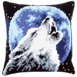 Vervaco Kreuzstichkissen Wolf