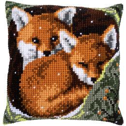 Vervaco Kreuzstichkissen Junge Füchse