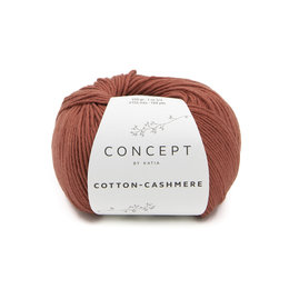 Katia Cotton cashmere 74 - Rostrot
