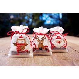 Vervaco Kräutersäckchen - Tütchenpackung  Freunde von Weihnachten II - 3er Set