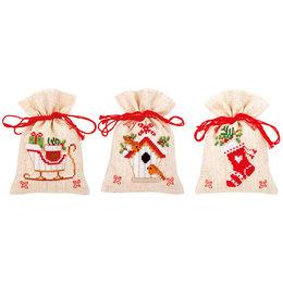 Vervaco Kräutersäckchen - Tütchenpackung Weihnachtlich - 3er Set