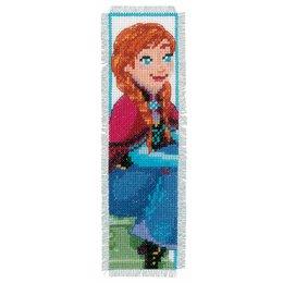 Vervaco Kreuzstichpackung Lesezeichen set Frozen Anna und Elsa - 2er Set