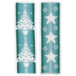 Vervaco Kreuzstichpackung Lesezeichen Nordic Christmas - 2er Set