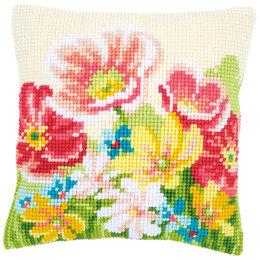 Vervaco Kreuzstichkissenpackung Sommerblumen