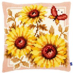 Vervaco Kreuzstichkissenpackung Sonnenblumen
