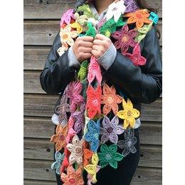 Caro's Atelier Häkelset Florida Flower Schal