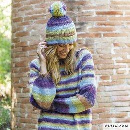 Katia Strickset: Set Damen, Pullover und Mütze
