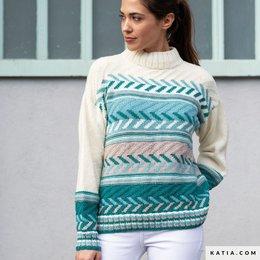 Katia Strickset Pullover Damen Basic Merino