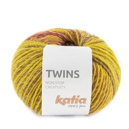 Katia Twins 159 - Senfgelb/Braun