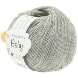 Lana Grossa Cool Wool Baby 206 - Hellgrau meliert