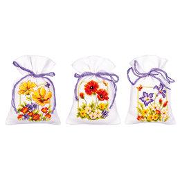 Vervaco Kräutersäckchen - Tütchenpackung Sommerblumen - set von 3