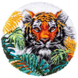 Vervaco Knüpfpackung - Tiger im Dschungelblättern