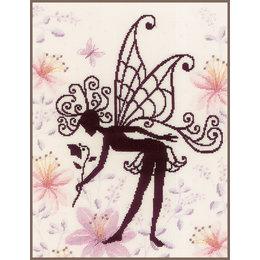 Vervaco Stickset Blumenfee Silhouette I