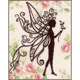 Vervaco Stickset Blumenfee Silhouette II