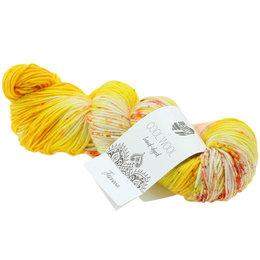 Lana Grossa Cool Wool Hand-Dyed 108 - Gelb/Creme/Fuchsia/Oliv