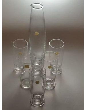 Leerdam Glaskunst Siem van der Marel - Leerdam Glaswerk - servies Luna (1997)