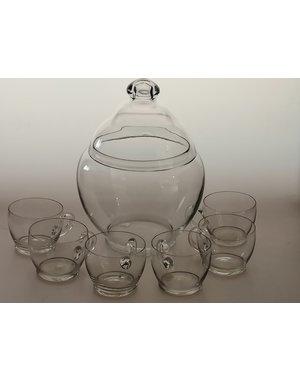 Leerdam Glaskunst Andries Copier - Bowlset Blank (1923)