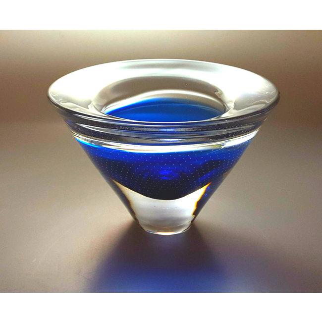 Siem van der Marel - Leerdam Serica Vaas Blauw (2000)