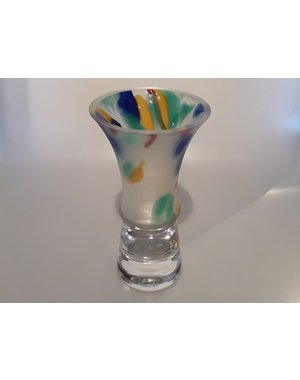 Leerdam Glaskunst Menno Jonker - Leerdam Serica Multicolor GROOT (1995)