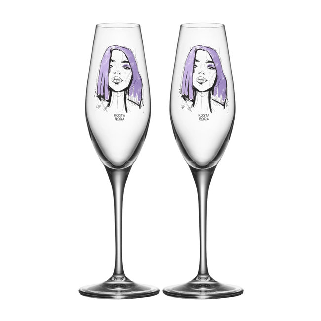 Kosta Boda All About You champagneglas – Forever Mine – Set 2 stuks (23cl)
