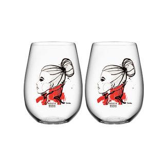 Sara Woodrow Kosta Boda drinkglas 2-pack
