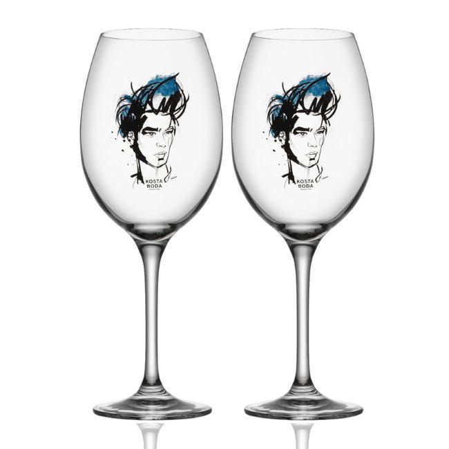 Kosta Boda All About You Wijnglas – Blauw – Set 2 stuks (52cl)