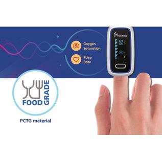 Moniteur de saturation en oxygène du sang numérique portable à LED
