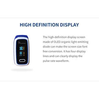 Heartcare Medische draagbare digitale LED-vingertop-pulsoxymeter Bloedzuurstofverzadigingsmonitor