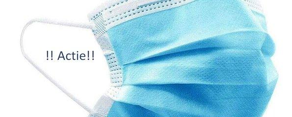 !!Actie!! Medische mondmaskers wegwerp 50 stuks + 3 desinfectiedoekjes gratis