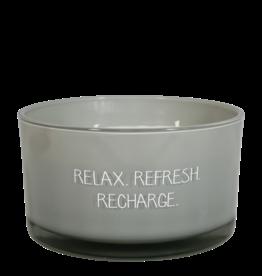 Geurkaars Relax Refresh Groen