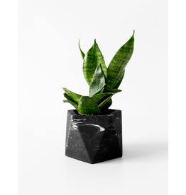 Plantenpot Mare Medium Black Marble