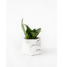 Plantenpot Mare Medium White Marble