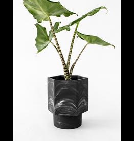 Zelfwaterende Plantenpot Black Marble