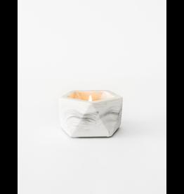 Theelichthouder Vand White Marble